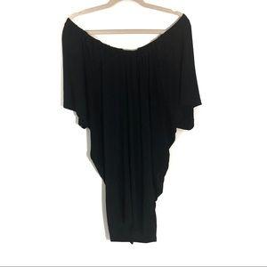 Aritzia Wilfred free split back dress off shoulder